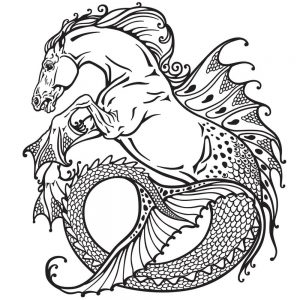 A mythological hippocampus